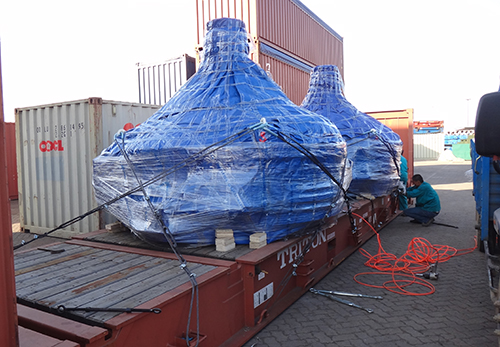 EP machine 5 sets vertical shaft concrete mixer delivery to Uzbekistan