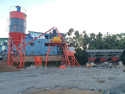 EP 35m3/hr Concrete Batching Plant in Myanmar