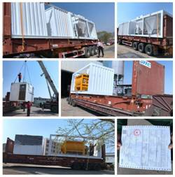 EP HZS180X Belt modular Concrete Batching Plant shipping to Indonesia