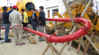 40m3/h diesel concrete mixer pump in Philippines