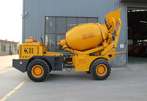 Self-loading concrete mixer shipped to Indonesia