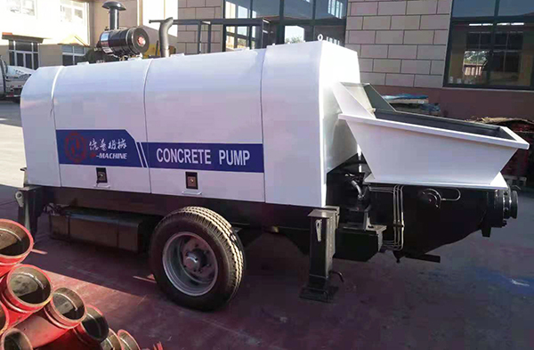 One set 60m3/h diesel concrete pump delivery to Philippines